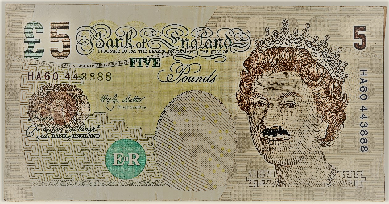 lucky £5 note